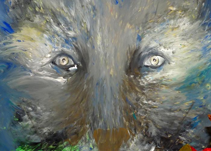 Ausdrucksmalen Wolf