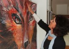 Mit Hilfe der Hände malen